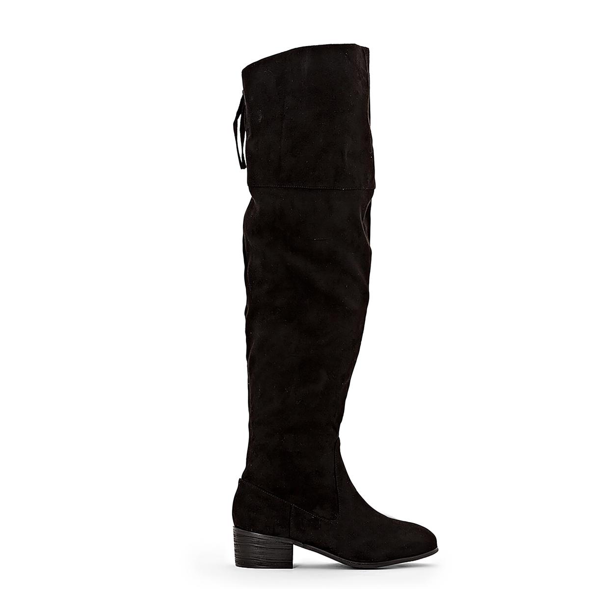 Бофорты La Redoute На молнии на плоском каблуке для широкой стопы размеры - 42 черный ботильоны la redoute кожаные на молнии размеры 26 каштановый