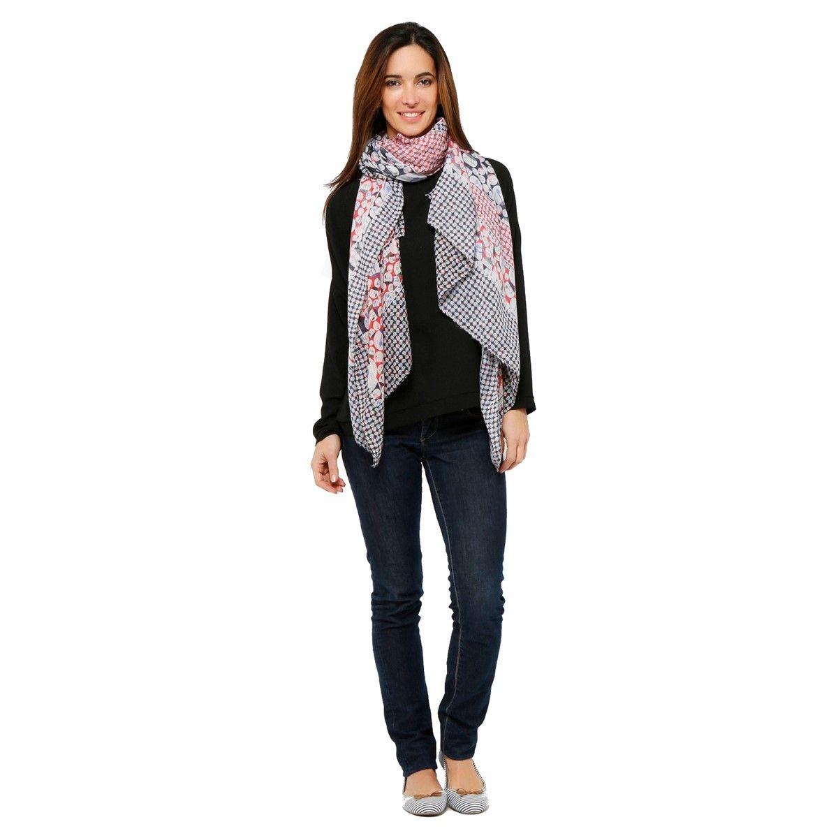 Grand foulard imprimé ARBRES