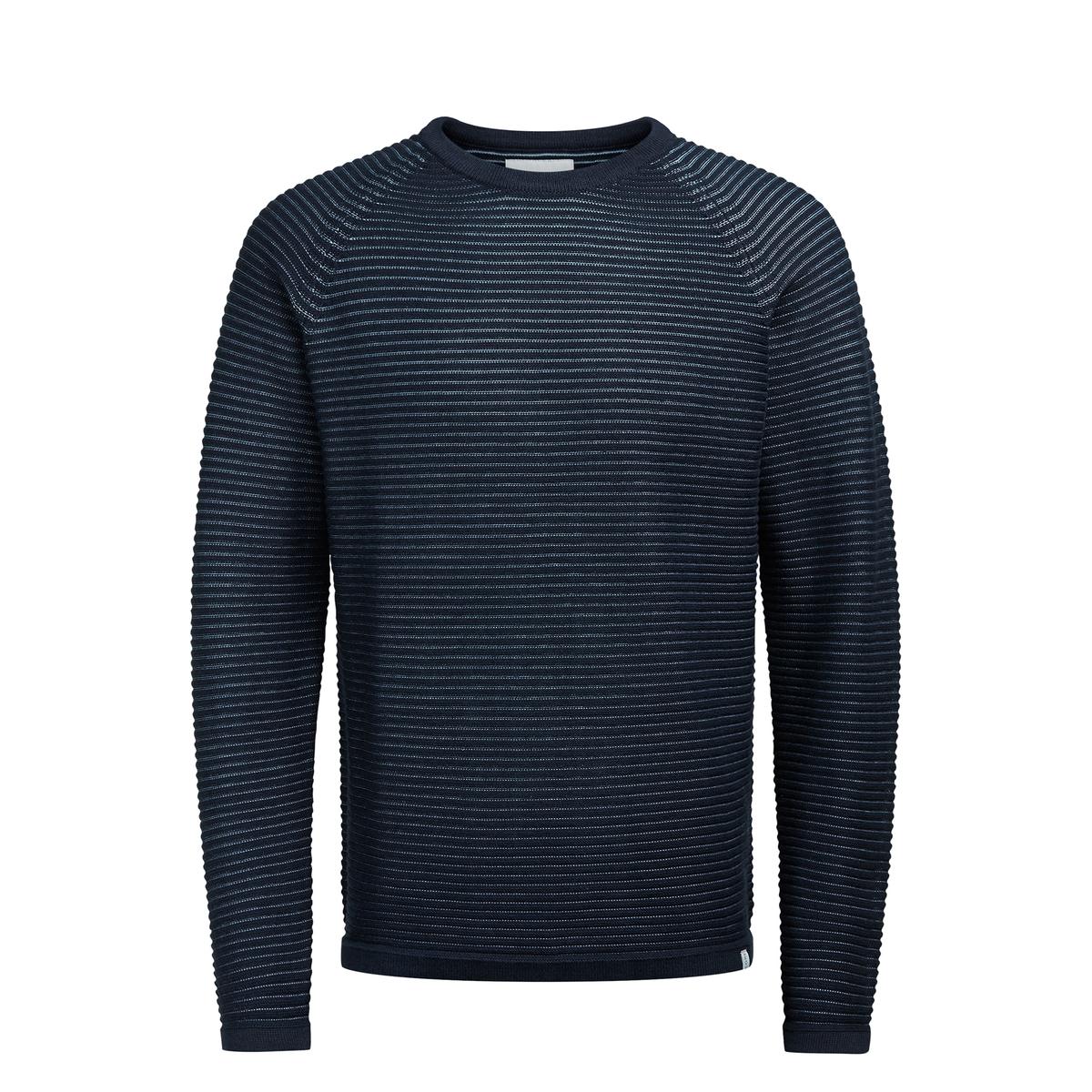 Пуловер крупной вязкиОписание:Детали  •  Длинные рукава  •  Круглый вырез •  Плотный трикотаж Состав и уход  •  100% хлопок  •  Следуйте советам по уходу, указанным на этикетке<br><br>Цвет: синий морской,темно-серый<br>Размер: S
