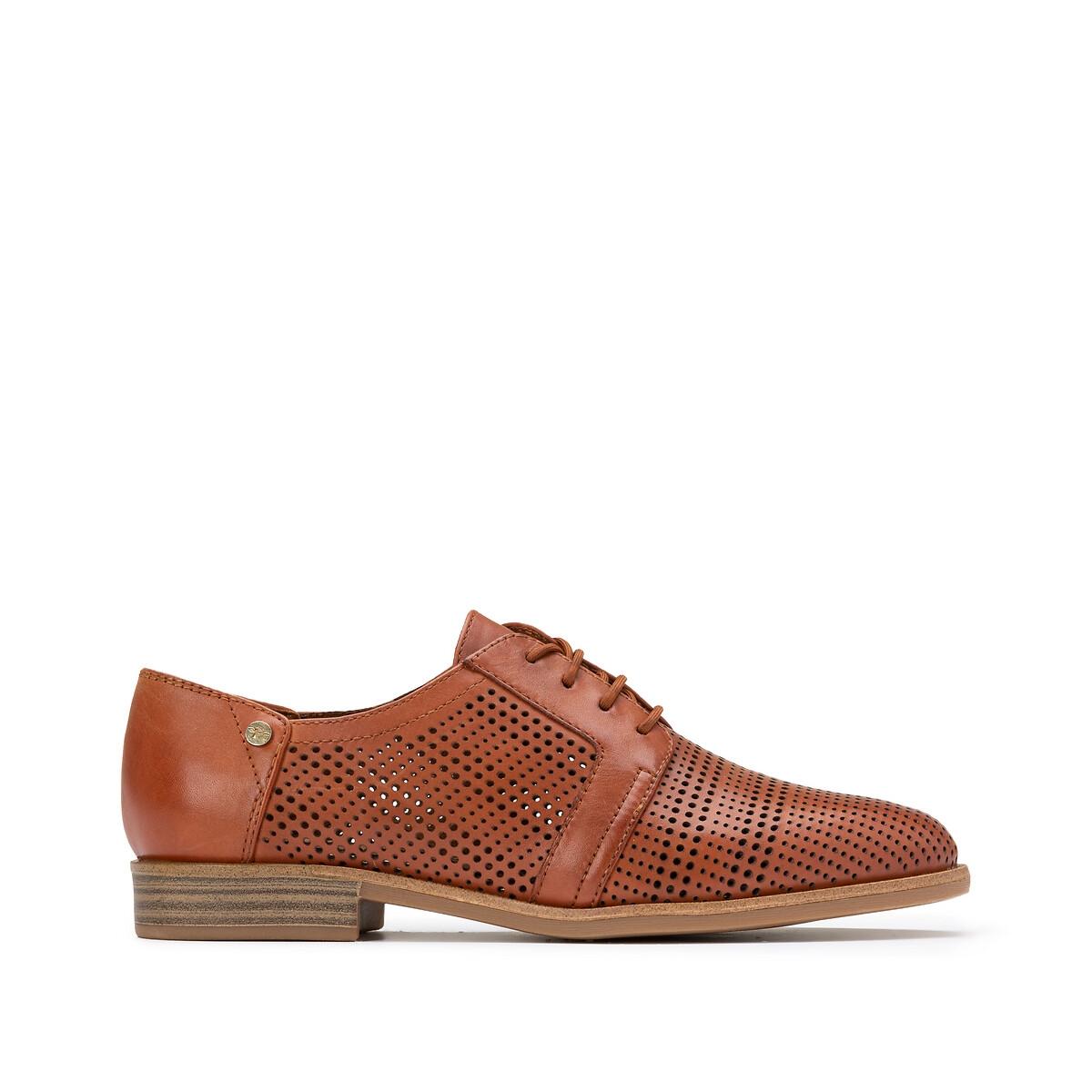 Ботинки-дерби La Redoute Из ажурной кожи Lyna 40 каштановый