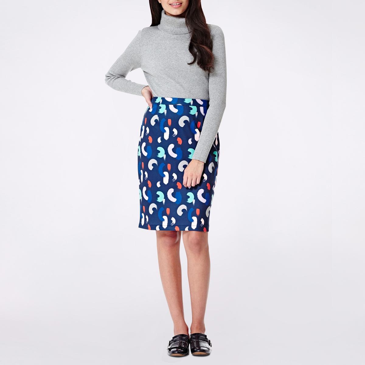 Юбка-футляр с рисунком платье yumi yumi платье