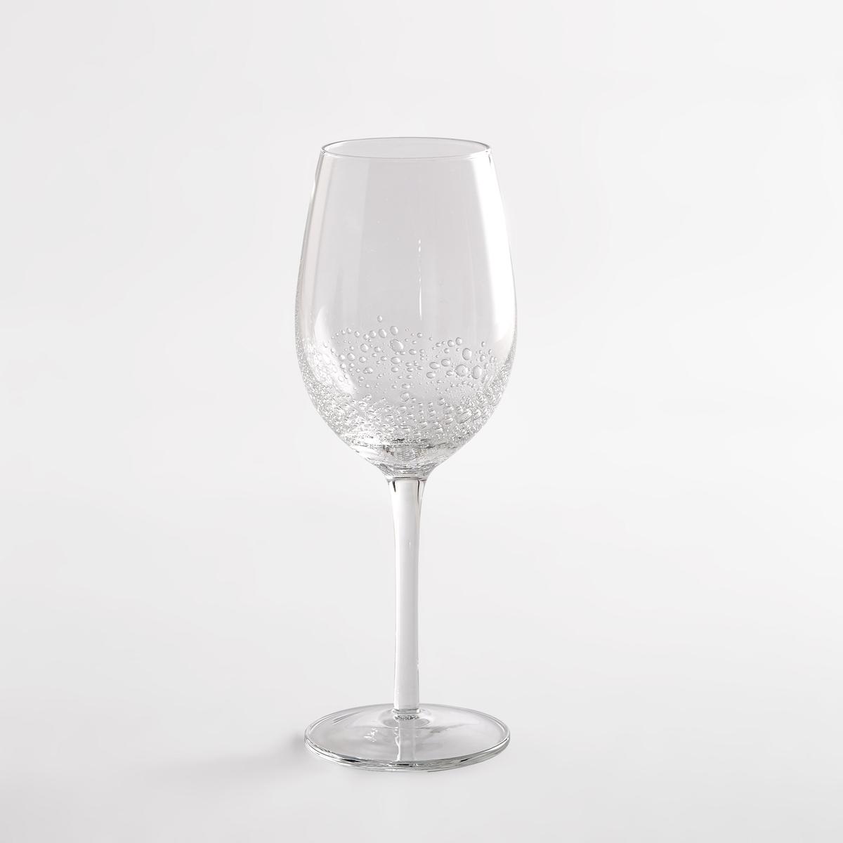 Комплект из 4 бокалов под вино с пузырьками на дне, GALIO