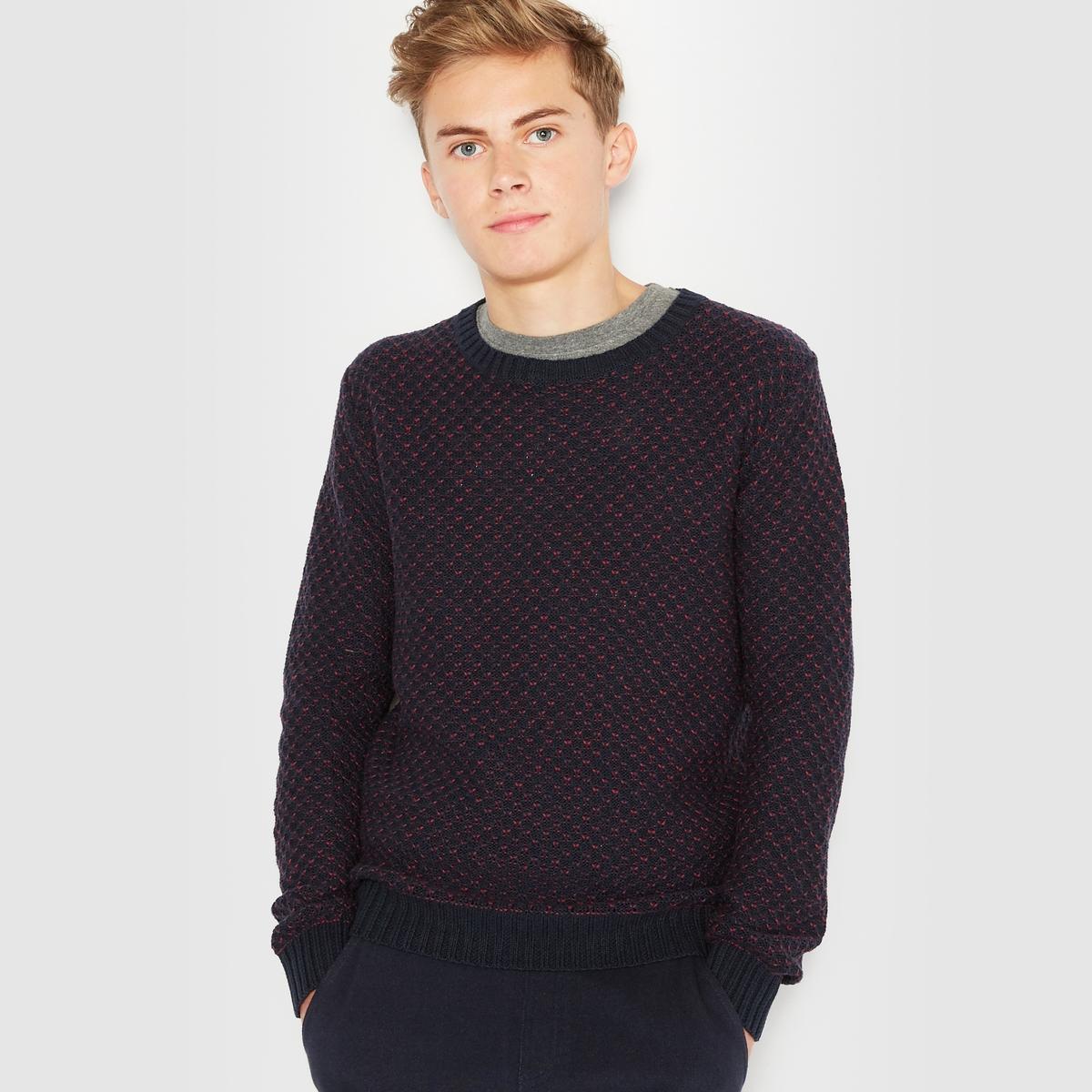 Жаккардовый пуловер на 10-16 лет