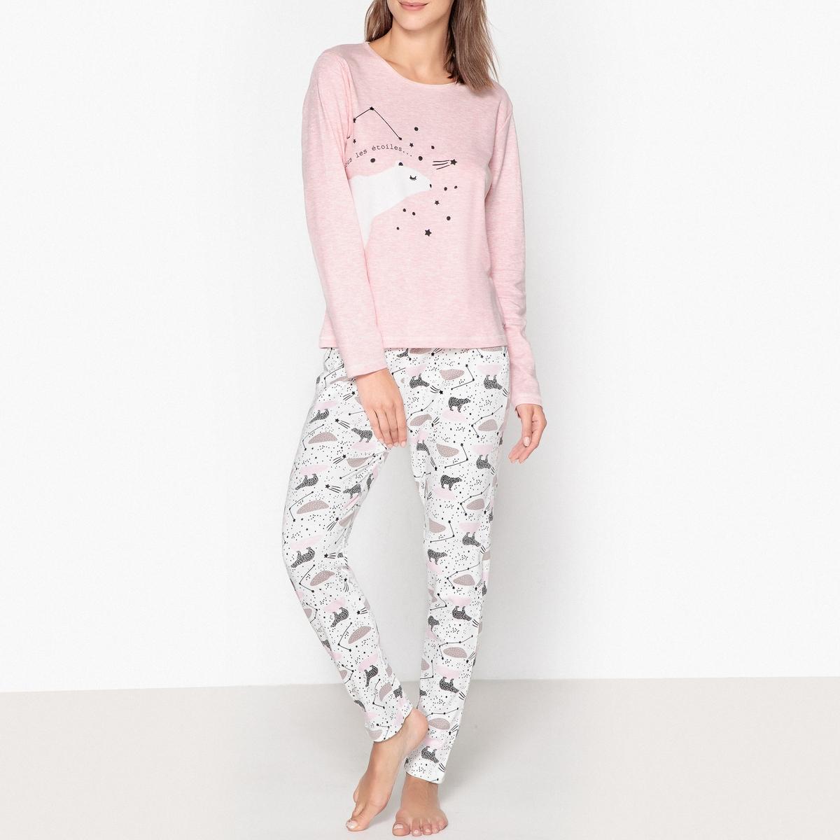 Пижама из хлопка с рисунком медведь пижама с шортами с рисунком