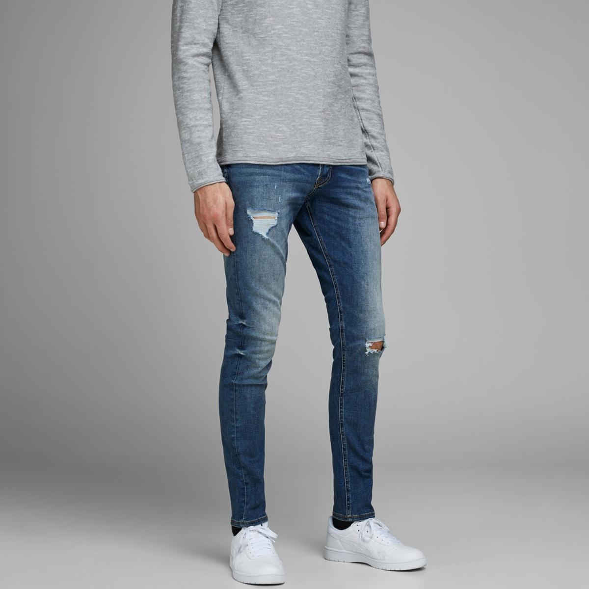 Jeans slim stretch, rasgados, Glenn