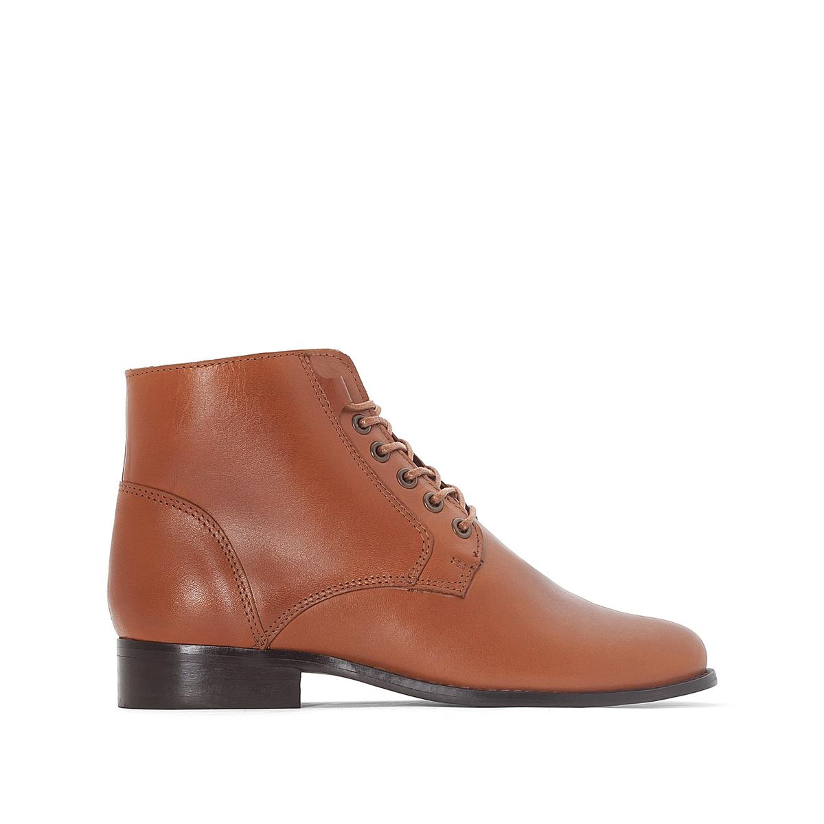 Ботильоны кожаные на шнуровке цены онлайн