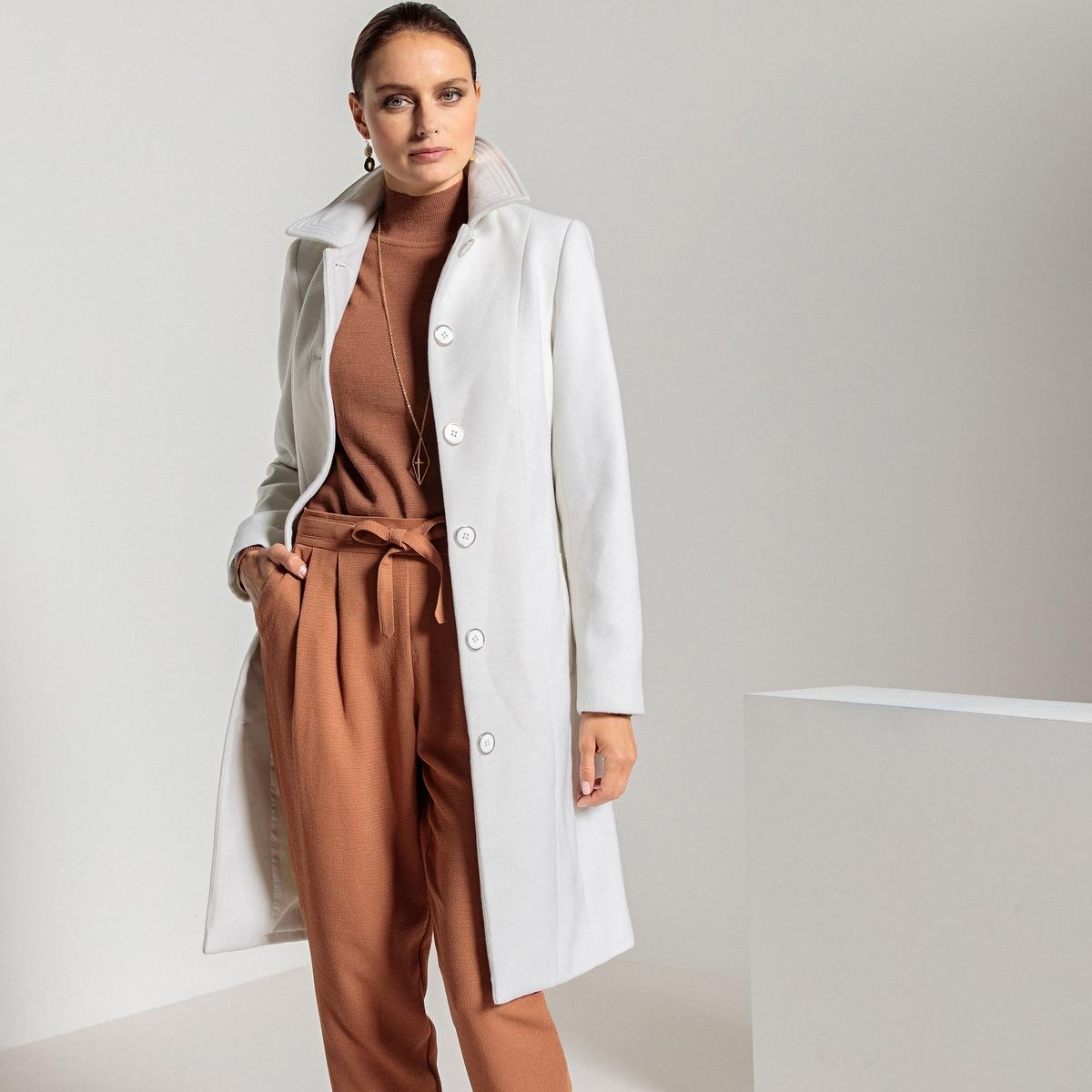 Пальто длинное с застежкой на пуговицы