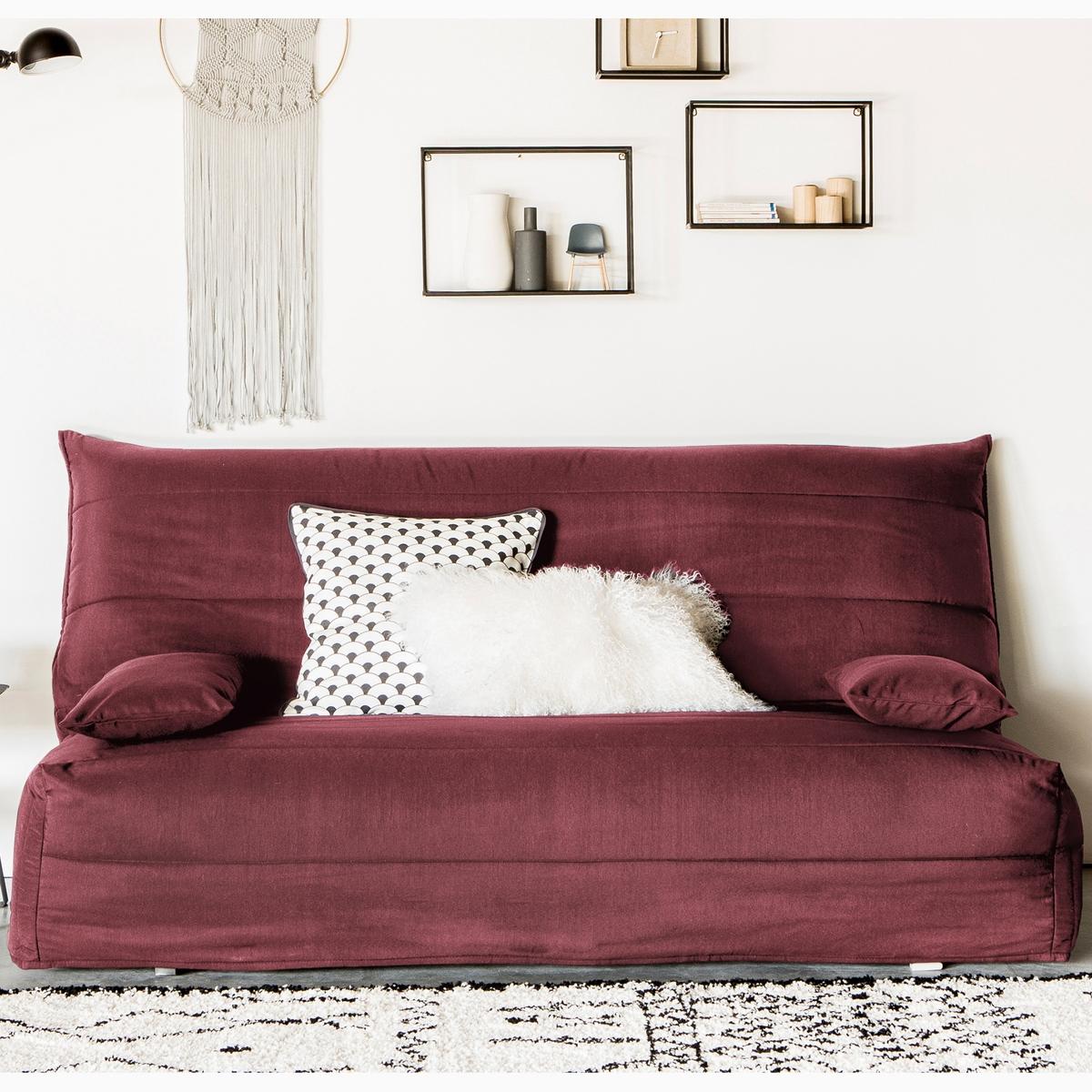 Чехол La Redoute Стеганый из поликоттона для дивана-аккордеона 140 см красный