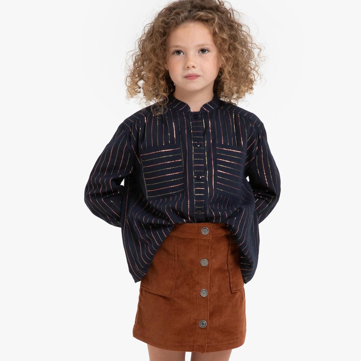 Блузка La Redoute В полоску с длинными рукавами 12 лет -150 см другие платье la redoute с длинными рукавами с цветочным принтом 12 лет 150 см другие