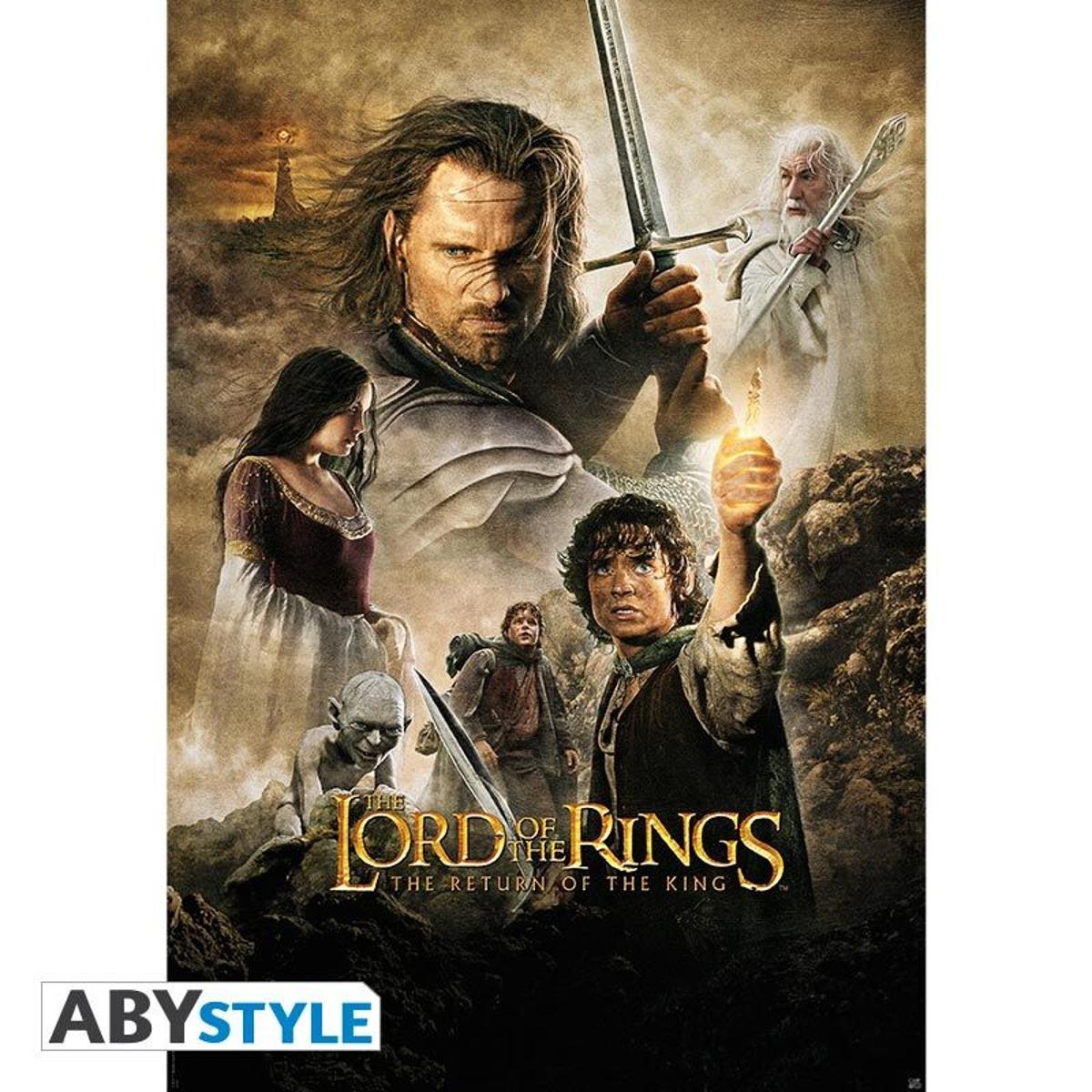LORD OF THE RING - Poster Le Retour du Roi roulé filmé (98x68)