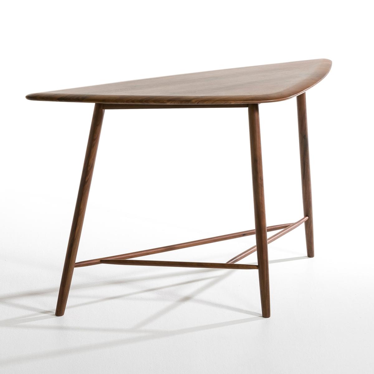 Столик с выгнутыми ножками из массива орехового дерева, Kansol от La Redoute