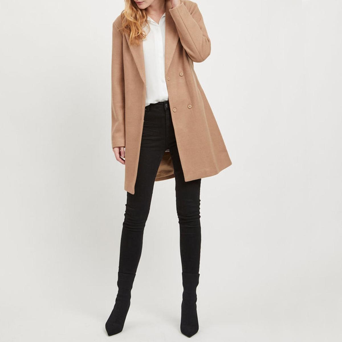 Пальто с поясом из шерстяного драпа пальто шинель из шерстяного драпа