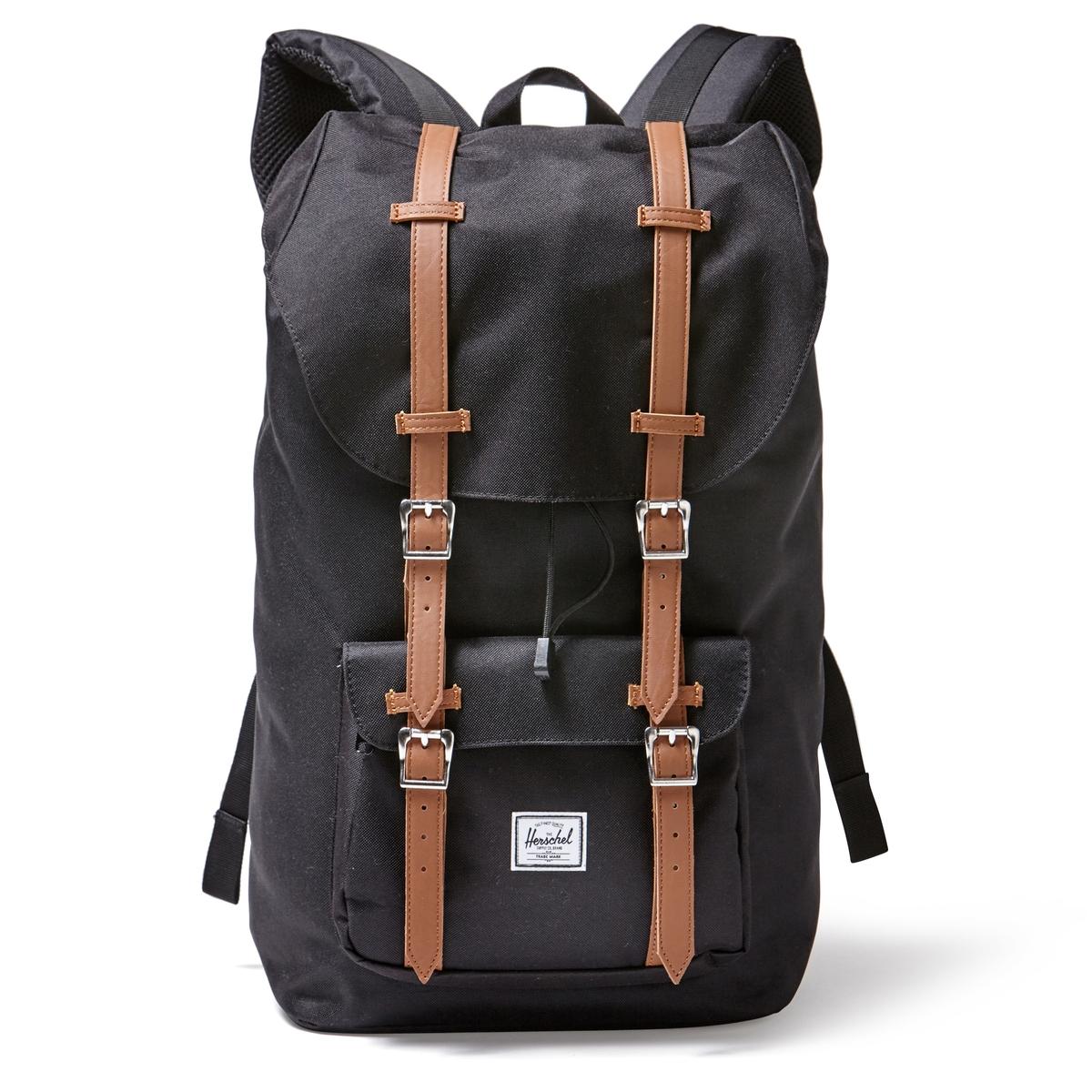 РюкзакОписание:Рюкзак HERSCHEL. 100% полиэстер. Регулируемые ручки. Небольшой внешний карман. Застежка на магниты. Внутреннее отделение для ноутбука.Размеры : 28 x 13 x 45 см.<br><br>Цвет: черный