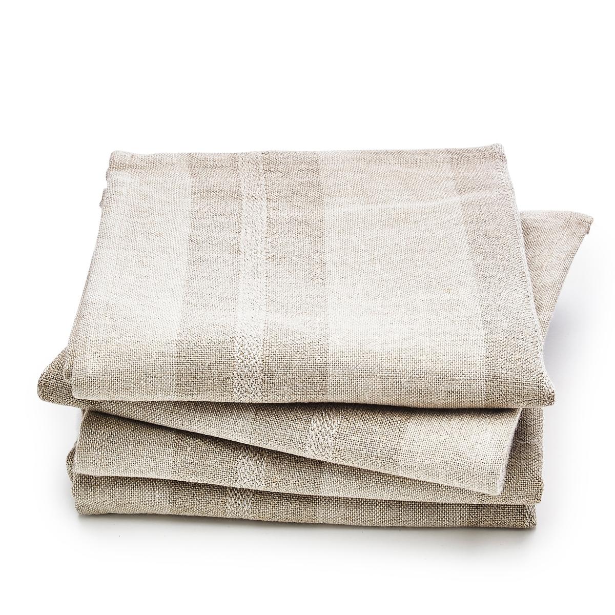 4 салфетки для стола из льна, Monodie