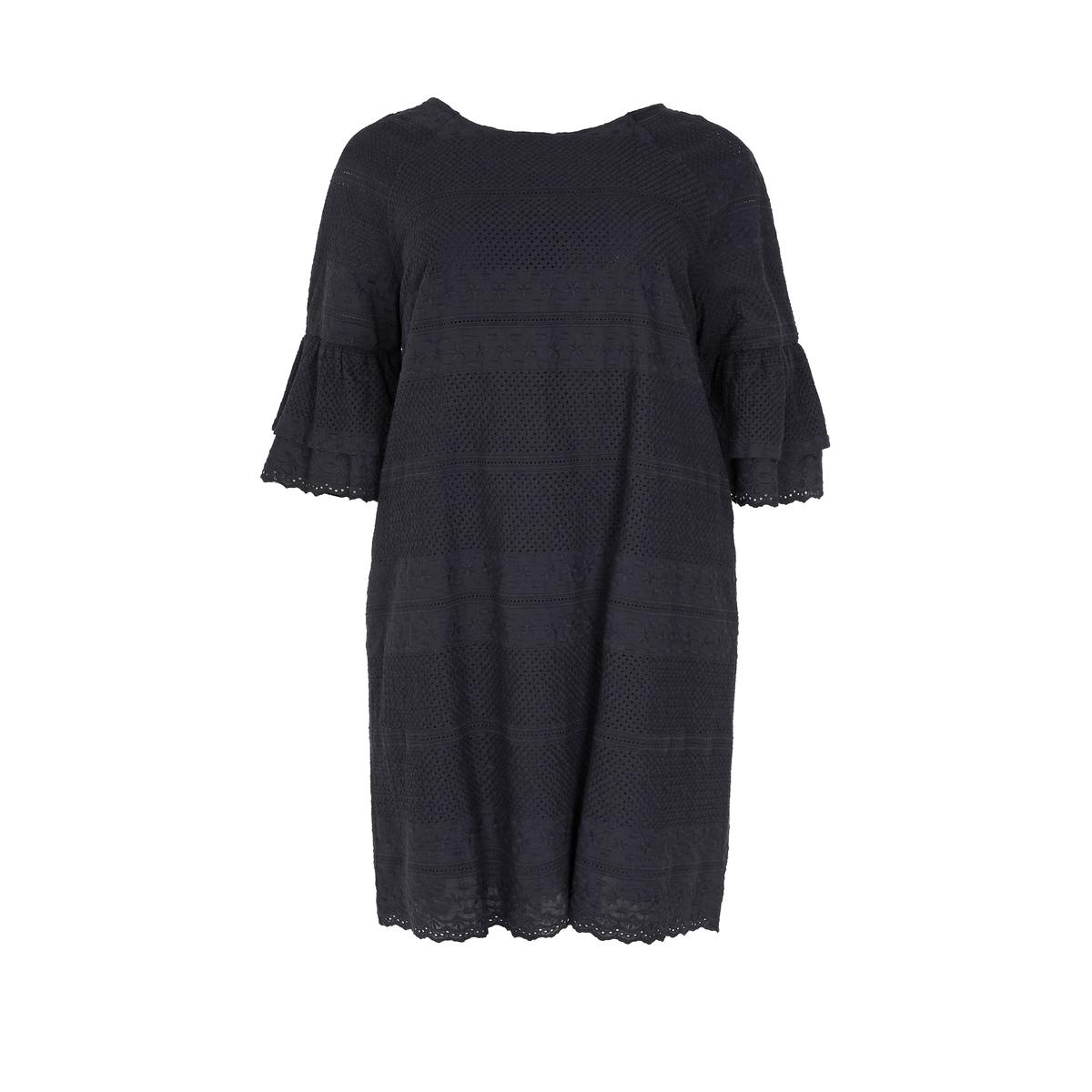 Платье<br><br>Цвет: черный<br>Размер: 52/54 (FR) - 58/60 (RUS)