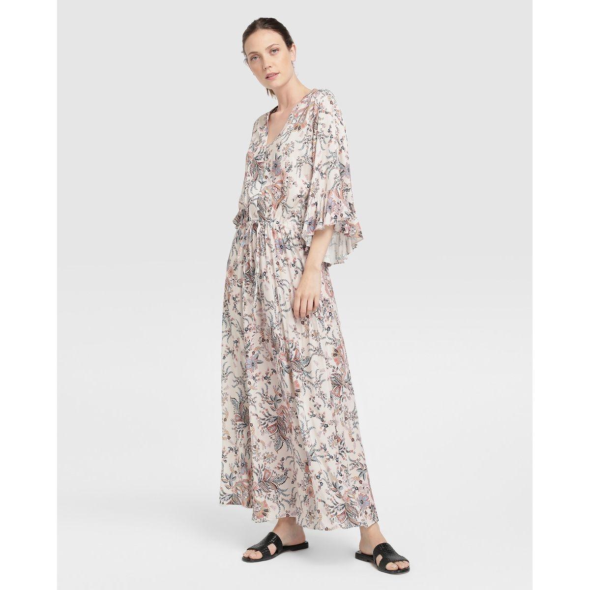 Robe longue Southern Cotton à imprimé cachemire