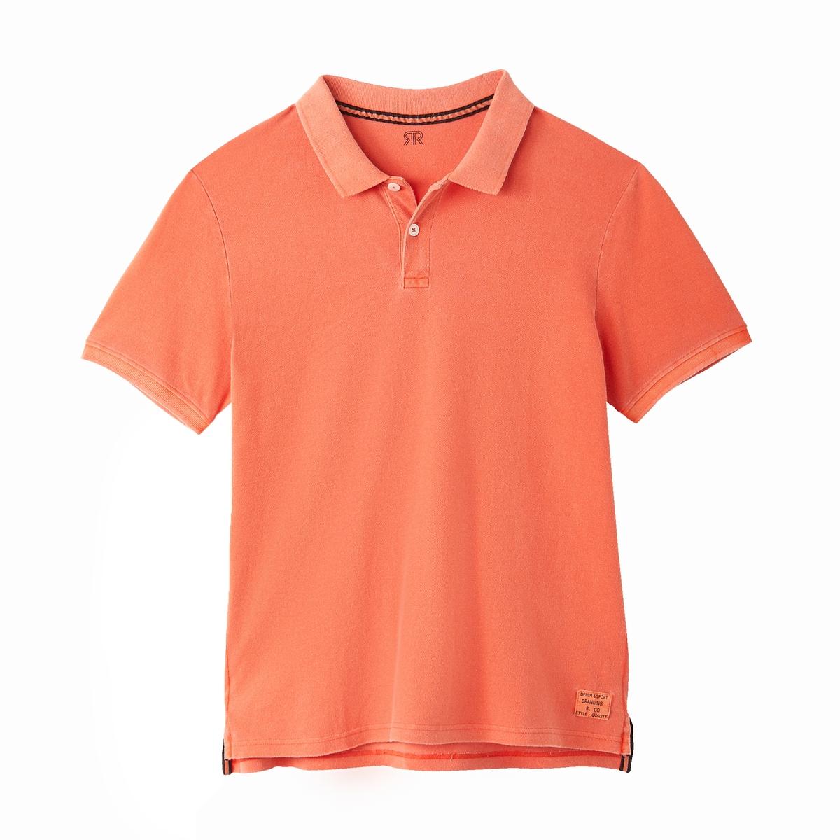Футболка-поло La Redoute Из трикотажа пике S оранжевый наволочка la redoute из хлопковой перкали aricha 50 x 70 см розовый