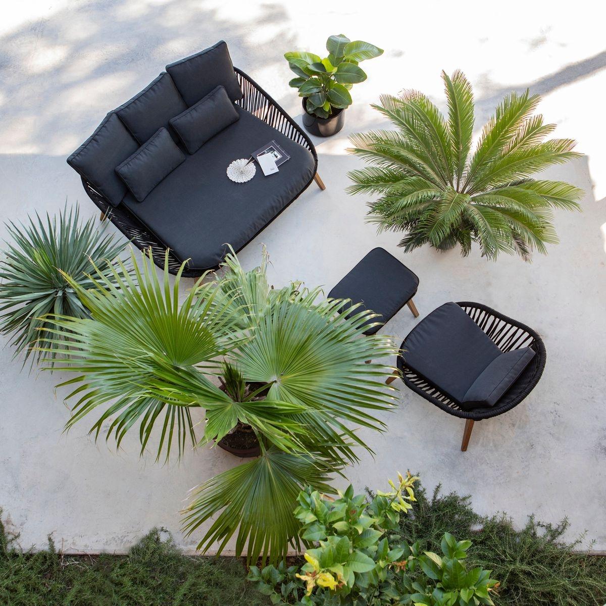 Canapé convertible 3 places Noir Confort