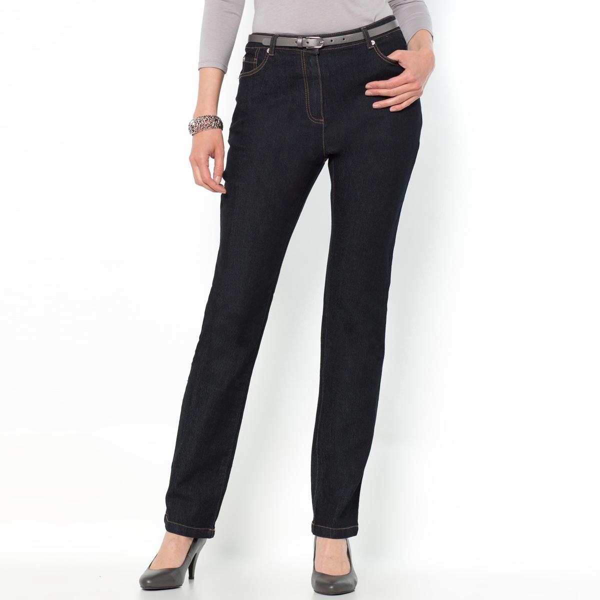 Джинсы прямого покроя из денима стретчДжинсы прямого покроя с 5 карманами из денима стретч. Ни слишком облегающий, ни слишком широкий покрой, джинсы подходят для любой фигуры и сочетаются со всеми стилями. Карманы с вышивкой сзади. Контрастная строчка.Состав и описание :Материал : деним стретч 73% хлопка, 26% полиэстера, 2% эластана. Длина по внутр.шву 78 см, ширина по низу 17 см.Марка : Anne WeyburnУход :Машинная стирка при 30 °С в умеренном режиме с изнаночной стороны с вещами схожих цветов.Гладить при умеренной температуре с изнаночной стороны.<br><br>Цвет: темно-синий,черный<br>Размер: 40 (FR) - 46 (RUS).48 (FR) - 54 (RUS).50 (FR) - 56 (RUS).52 (FR) - 58 (RUS).40 (FR) - 46 (RUS).44 (FR) - 50 (RUS).46 (FR) - 52 (RUS).50 (FR) - 56 (RUS)