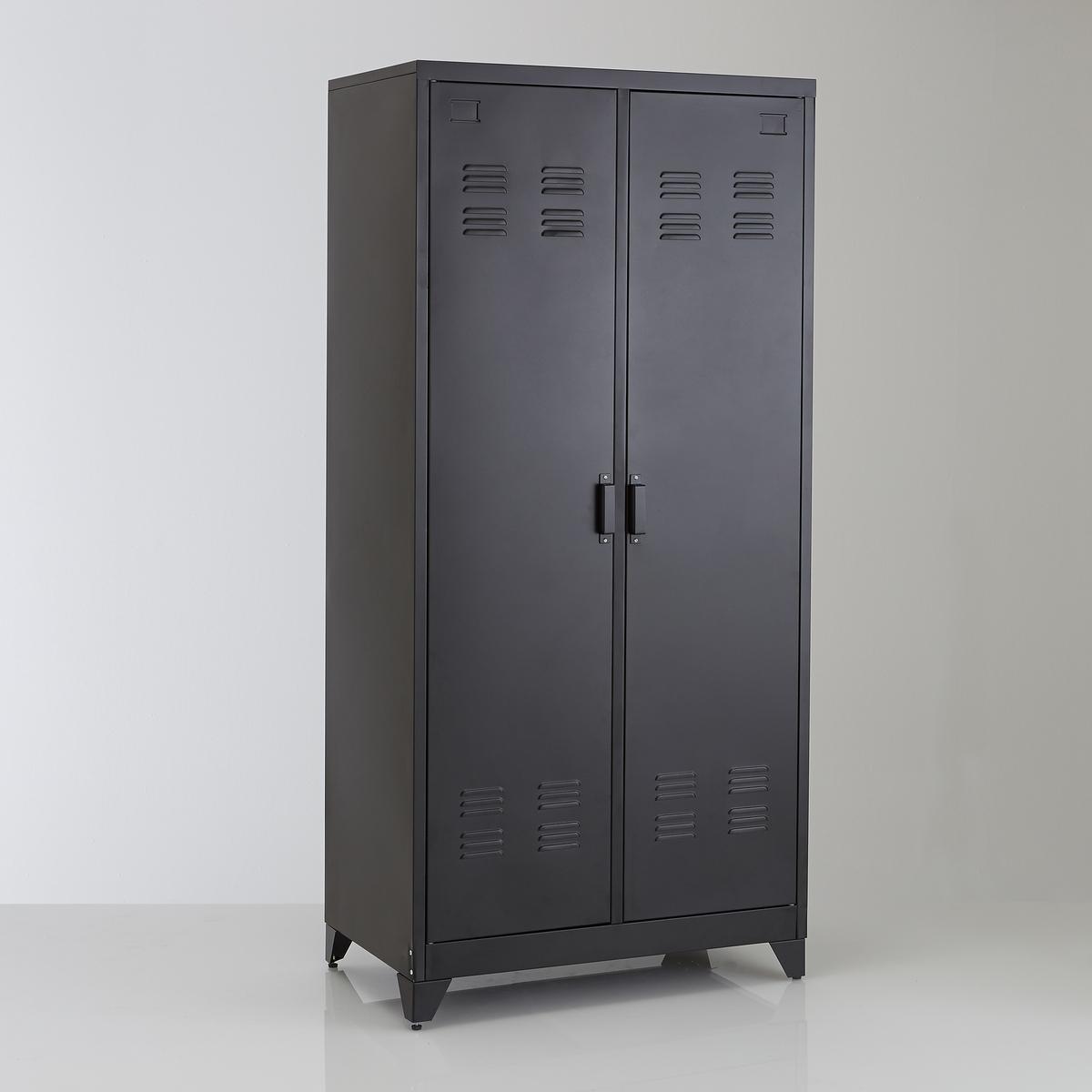 Armario ropero, metal, 2 puertas, Hiba