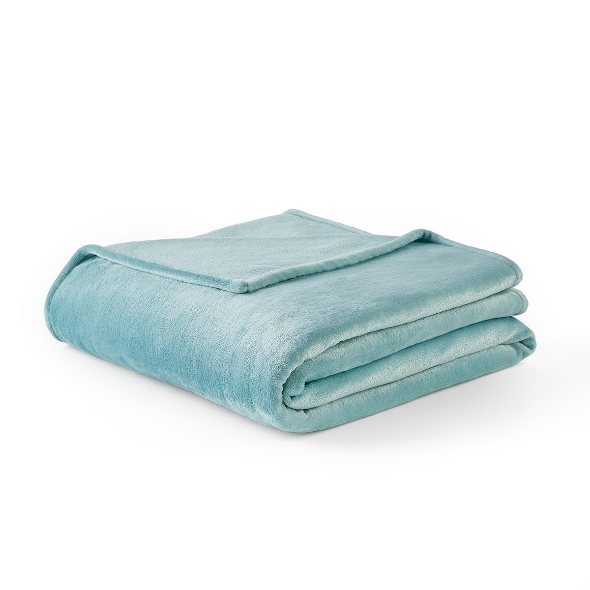 цена Одеяло La Redoute Из микрофибры Mild 240 x 220 см синий онлайн в 2017 году