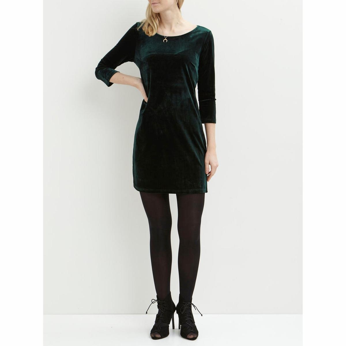 Платье с рукавами 3/4 VISIENNA DRESSСостав и описание :Материал : 95% полиэстер, 5% эластанМарка : VILA.<br><br>Цвет: зеленый<br>Размер: XS