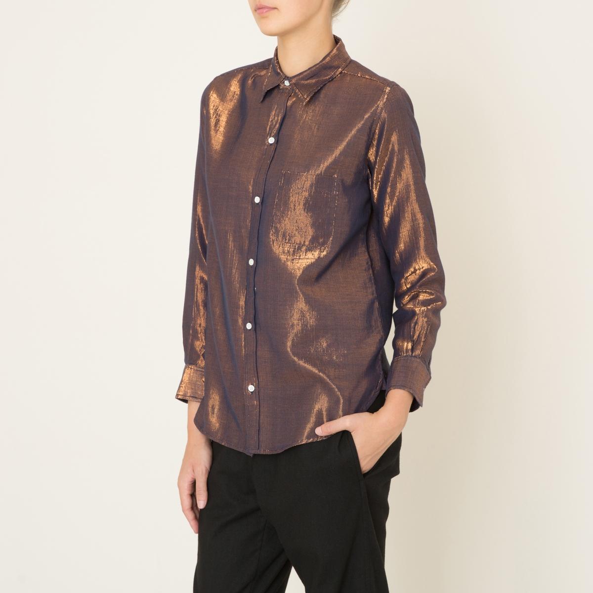 Рубашка VERTUСостав и описание Материал : 50% хлопка, 50% люрексаМарка : S?UR<br><br>Цвет: медный