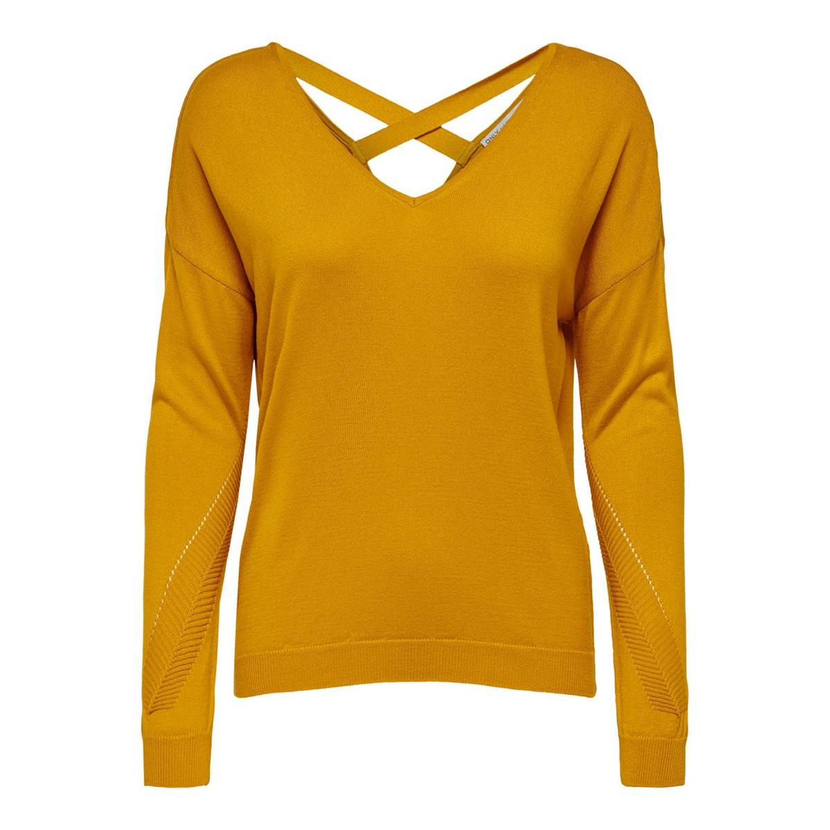 Пуловер La Redoute С V-образным вырезом открытая спинка L каштановый