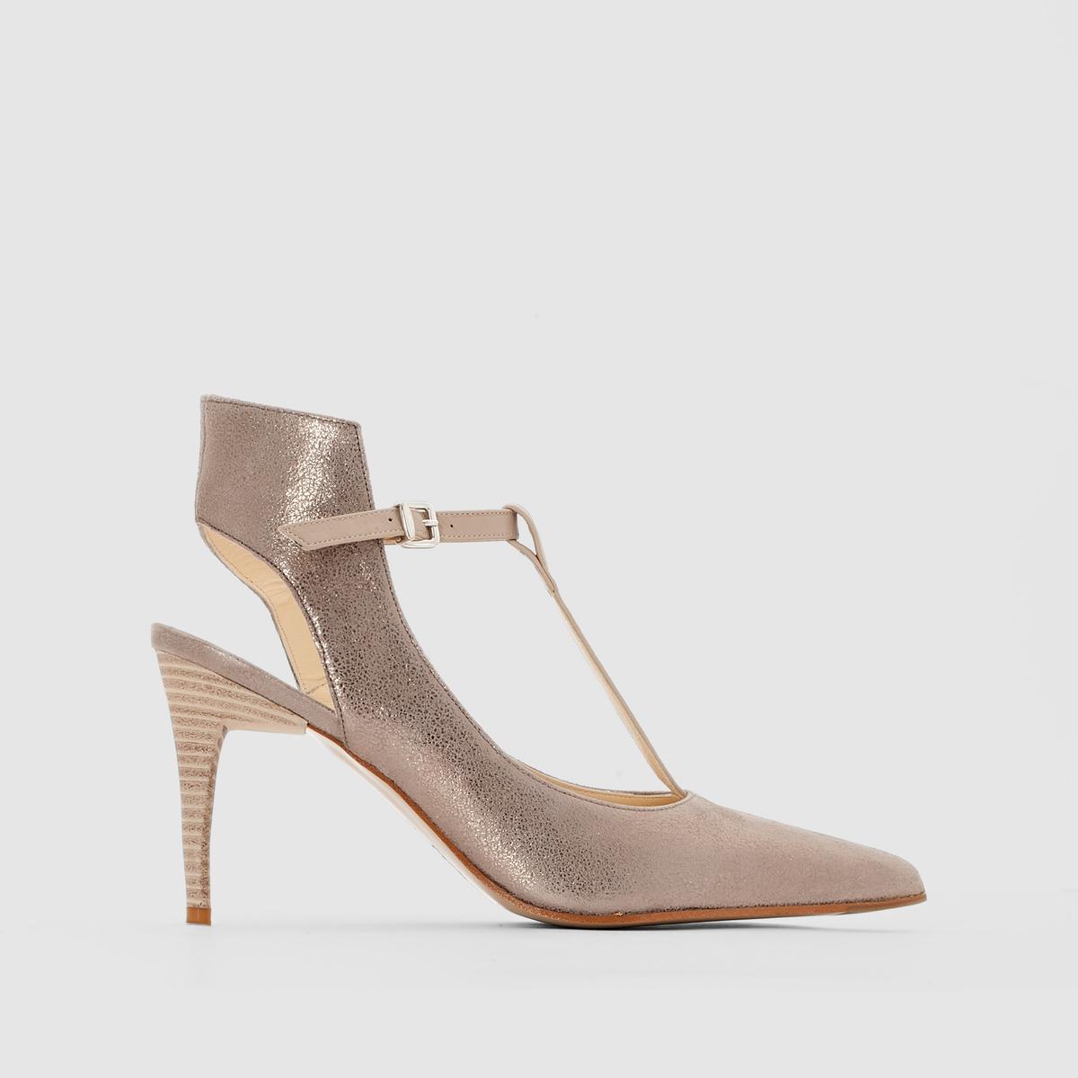 Туфли кожаные, ELIZABETH STUART, LeaПреимущества: воплощение элегантности и изысканности - туфли от ELIZABETH STUART, из матовой кожи с радужным переливом, с металлической пряжкой на щиколотке.<br><br>Цвет: бежевый с блеском<br>Размер: 40