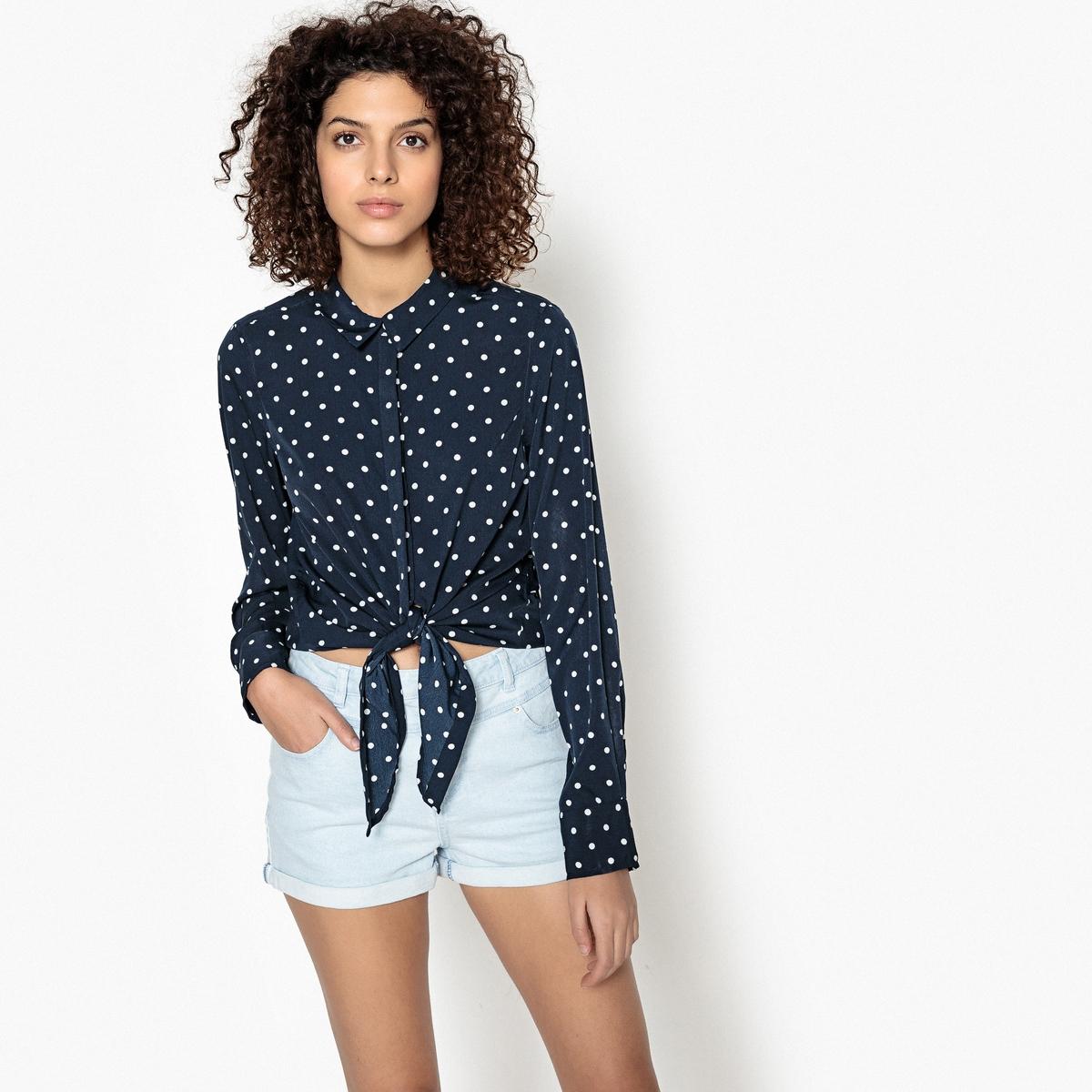 Рубашка прямого покроя с длинными рукавами и воротником-поло футболка с воротником поло длинными рукавами и пуговицами спереди