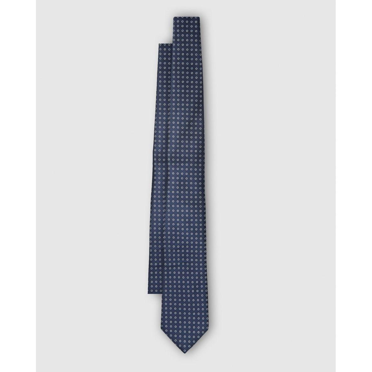 Cravate en soie imprimé mini cercles