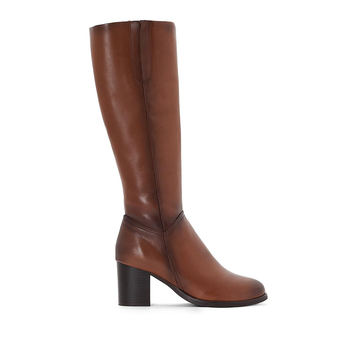 Сапоги кожаные на каблуке сапоги кожаные на плоском каблуке 1137