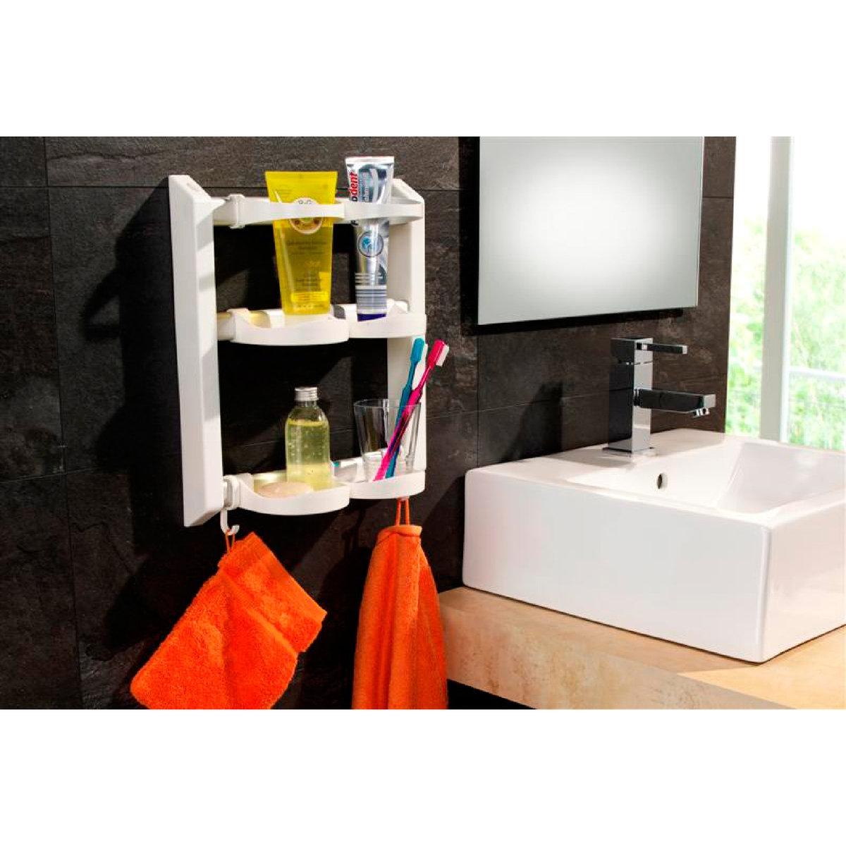 Этажерка для ванной модульная, Ar?gloХарактеристики модульной этажерки для ванной, Ar?glo:4 отделения.2 полки для флаконов с гелем и 2 подставки.2 крючка для банных рукавиц.Подвешивается или крепится к стене.Каркас из пластика и алюминия с покрытием от ржавчины.Найдите другие предметы мебели для хранения на сайте laredoute.ru.Размеры модульной этажерки для ванной, Ar?glo:Д. 31 x В. 38 x Г. 12 см.Вес 0,700 кг.<br><br>Цвет: белый<br>Размер: единый размер