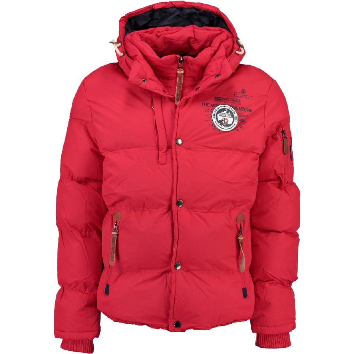 Куртка стеганаяДетали •  Длина : укороченная   •  Капюшон  •  Застежка на молниюСостав и уход •  100% полиамид  •  Следуйте советам по уходу, указанным на этикетке<br><br>Цвет: красный<br>Размер: S