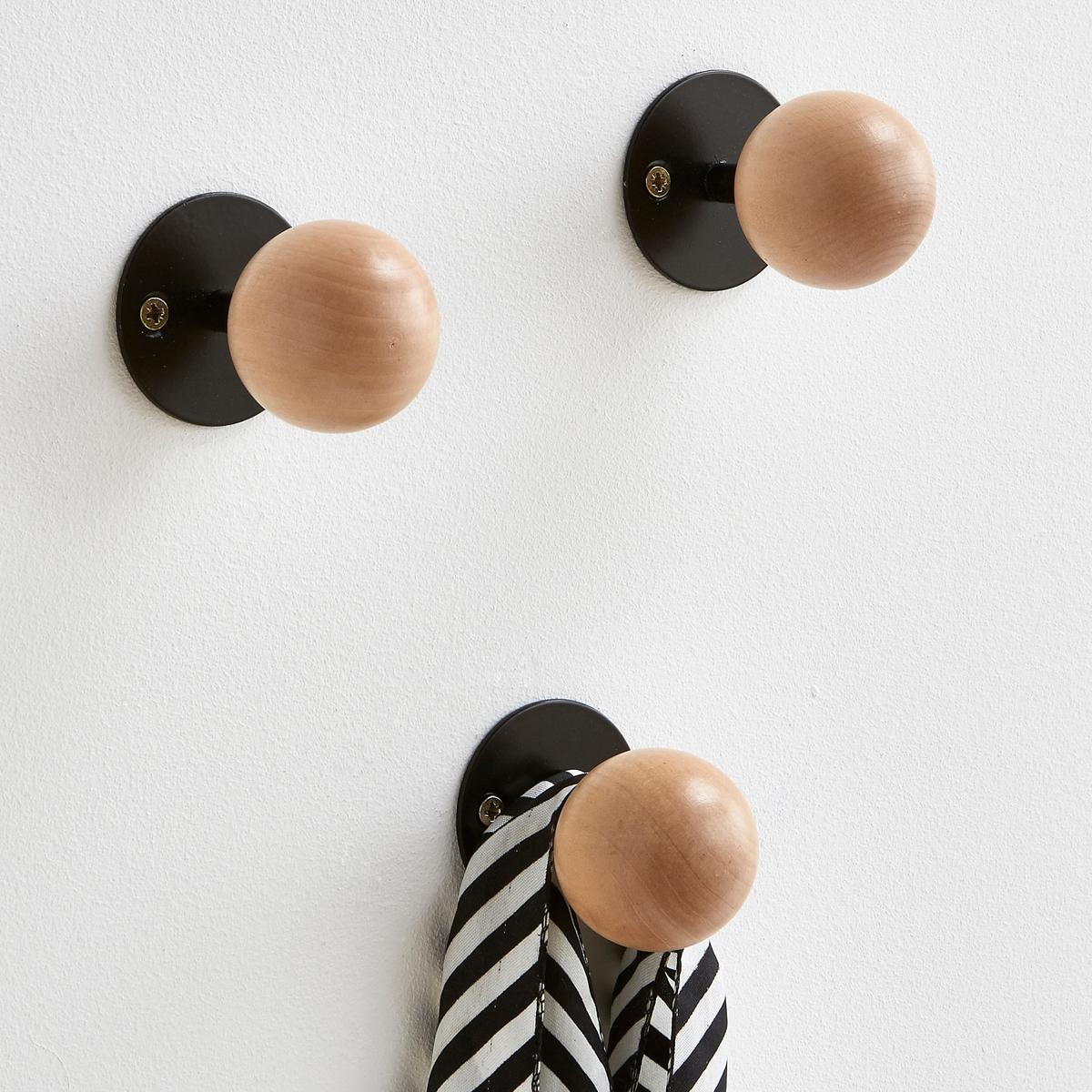 3 настенных LaRedoute Вешалки с крючками AGAMA единый размер черный 3 настенных la redoute вешалки с крючками agama единый размер белый