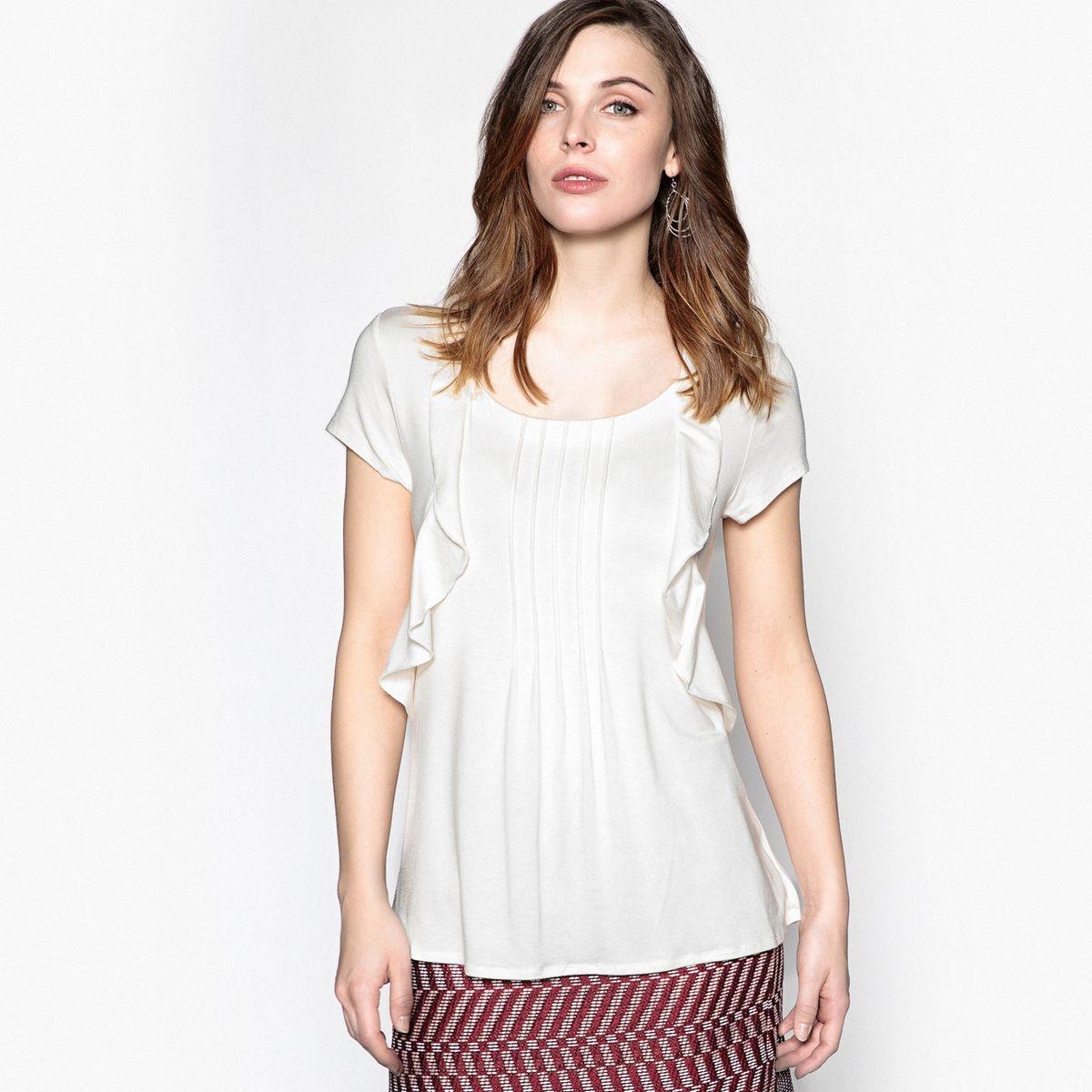 T-shirt, col fantaisie, manches courtes