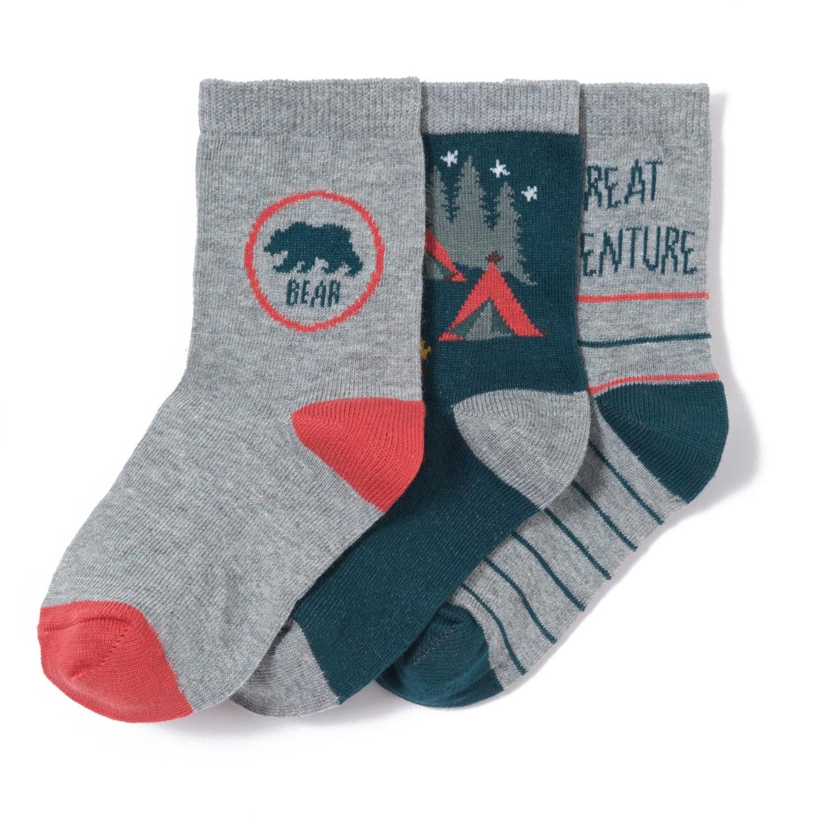 3 пары носков с приключенческой тематикой от La Redoute