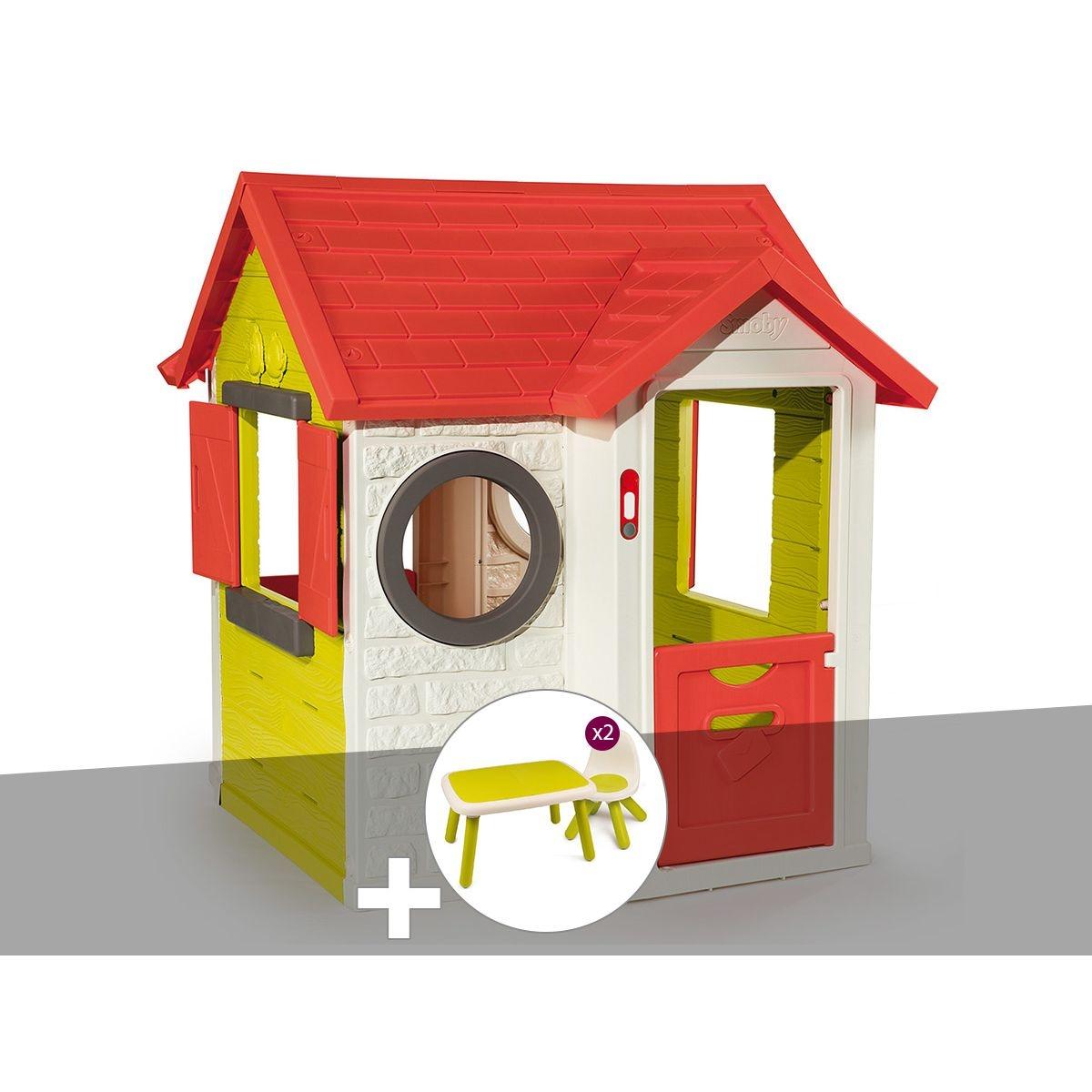 Cabane enfant My House - Smoby + Table et 2 chaises