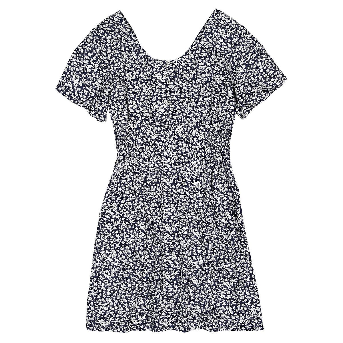 Платье La Redoute Струящееся с короткими рукавами с принтом 10-18 лет 16 лет - 162 см разноцветный polesie великан 162 детали разноцветный