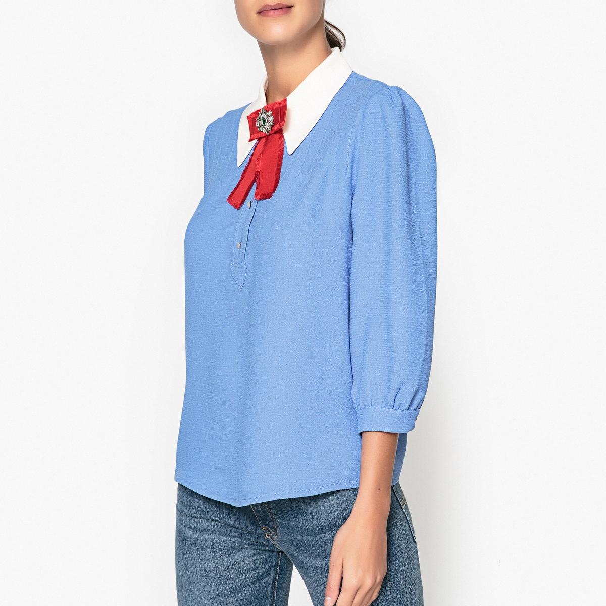 Блузка с брошью PAPYRUS