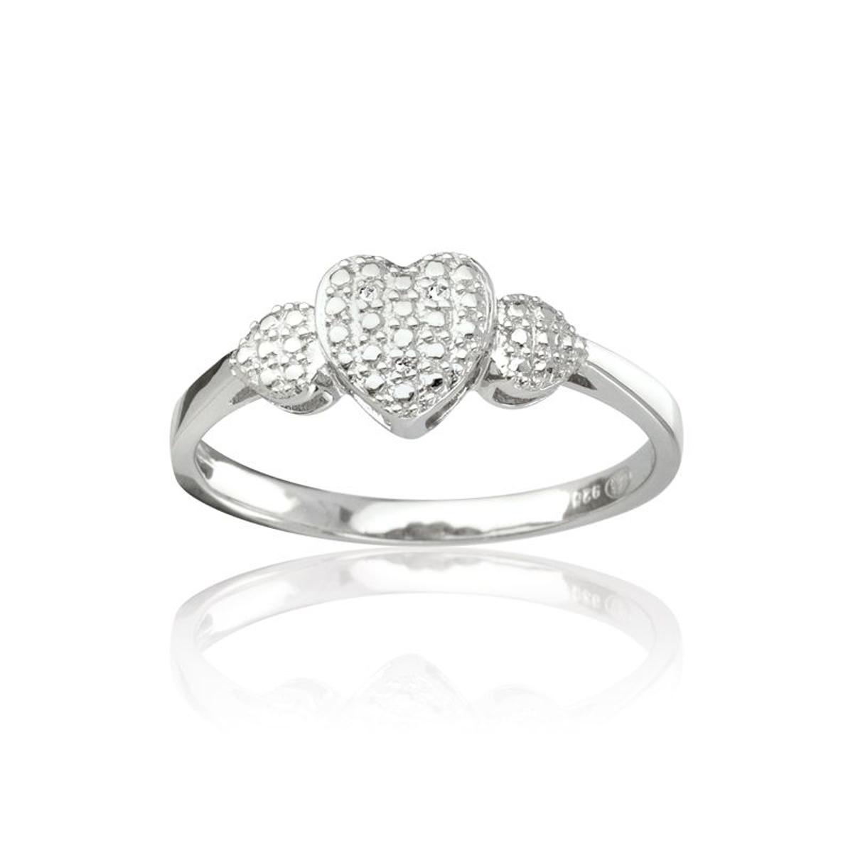 Bague Argent 925/1000 Diamants