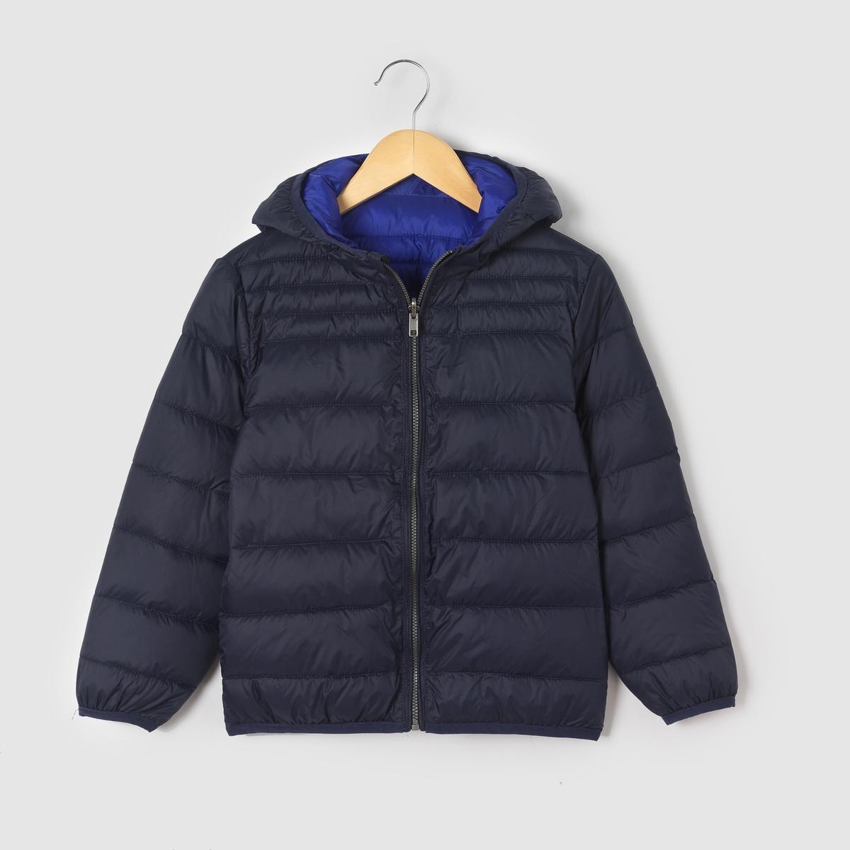 Куртка стеганая тонкая двухсторонняя с капюшоном, 3-12 лет