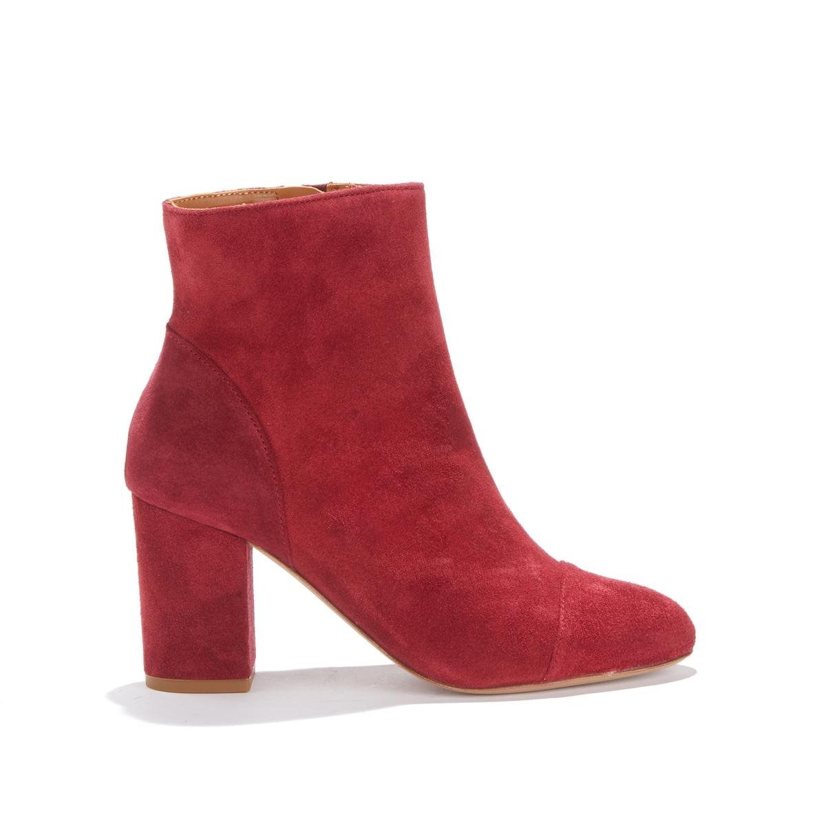 Ботильоны кожаные на высоком каблуке LA MYSTÉRIEUSE цены онлайн