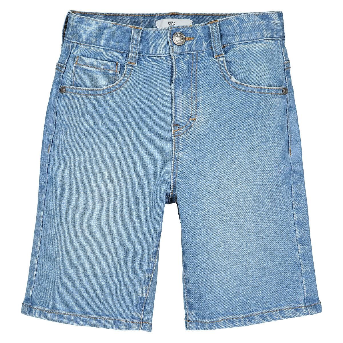 Бермуды LaRedoute Из джинсовой ткани 3-12 лет 7 синий