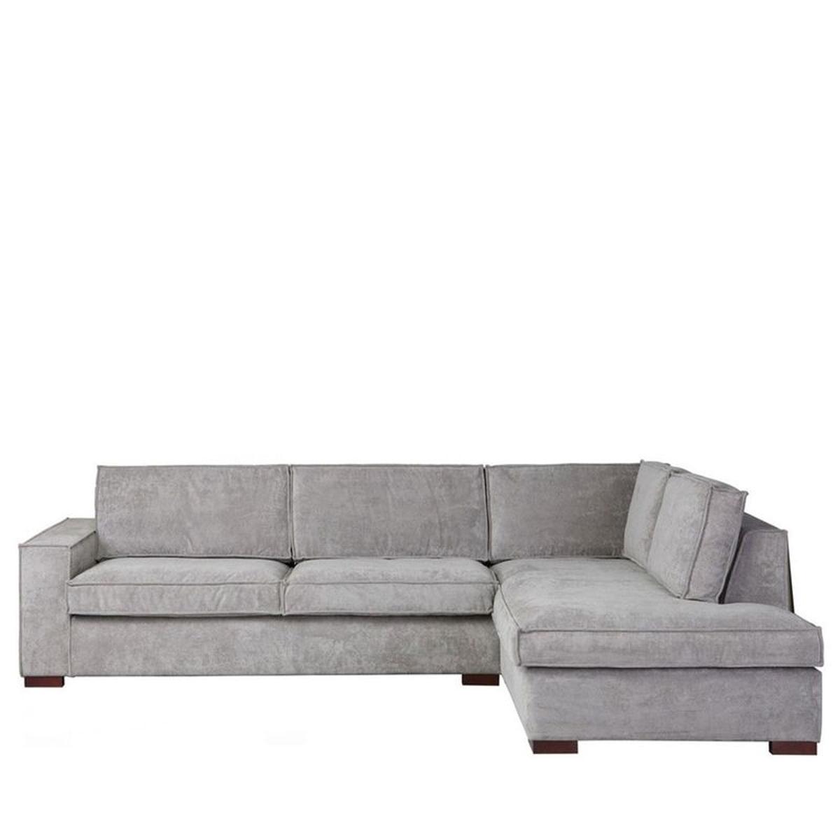 Thomas - canapé d'angle sur le côté droit avec tissu côtelé