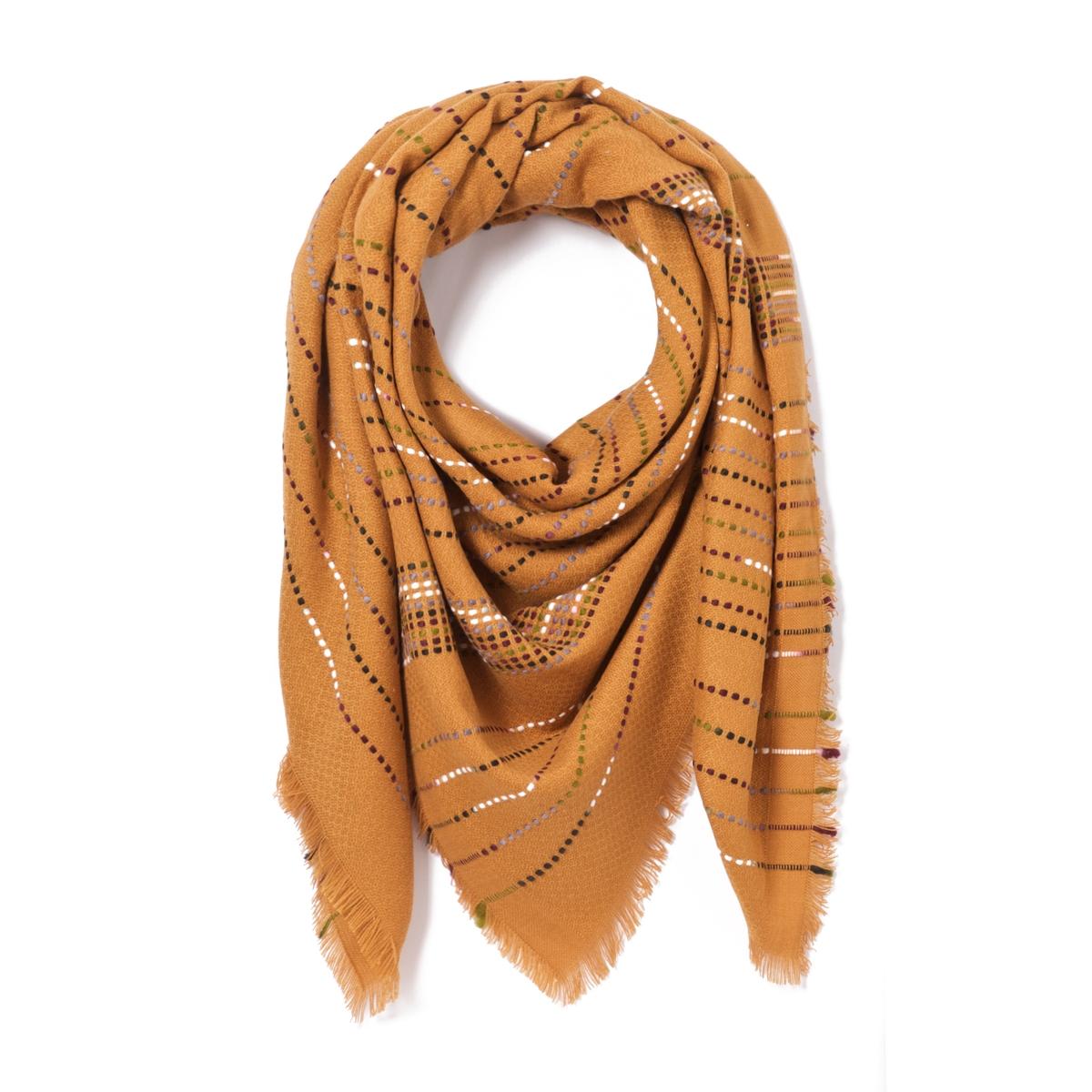 Шарф с разноцветной прострочкойОписание:Женственный шарф с блестящими деталями украсит Ваш гардероб и придаст изысканности. Состав и описание : Материал : 100% акрилРазмеры : 160 X 160 смУход: : Следуйте рекомендациям, указанным на этикетке изделия.<br><br>Цвет: бордовый,желтый горчичный,синий,черный<br>Размер: единый размер.единый размер.единый размер.единый размер