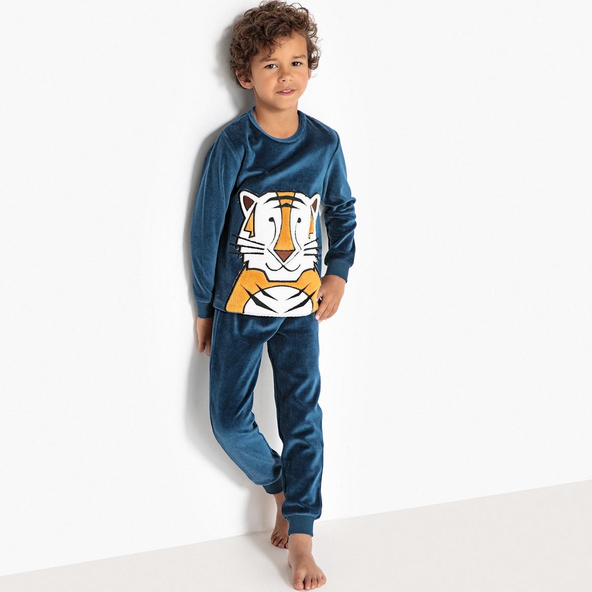 Пижама из велюра, 3-12 лет