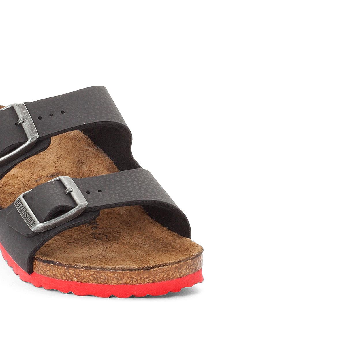 Туфли без задника синтетическиеДетали   •  Туфли без задника •  Застежка : без застежки •  Открытый мысокСостав и уход  •  Верх 100% синтетический материал •  Подкладка 100% текстиль •  Стелька 100% кожа •  Подошва 100% ЭВА<br><br>Цвет: черный/ красный