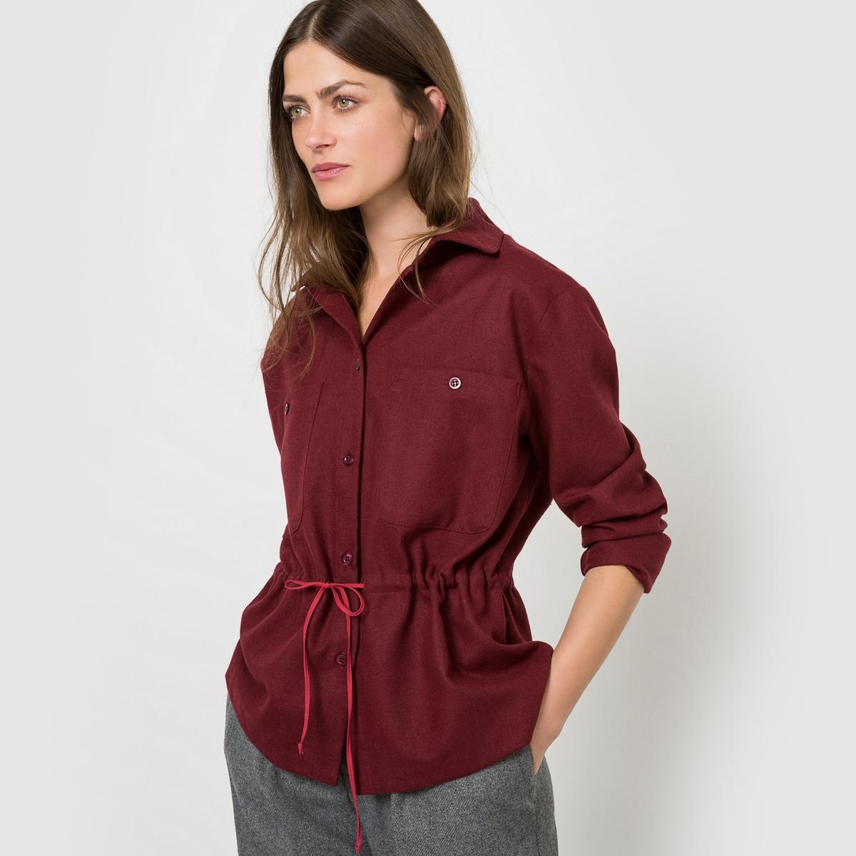 Рубашка с длинными рукавамиСостав и описаниеМатериал 40% акрила, 30% полиэстера, 25% шерсти, 5% других волоконДлина 67 смМарка COLLECTOR  УходМашинная стирка при 30 °C - Не отбеливать - Гладить при низкой температуре - Сухая (химическая) чистка запрещена - Машинная сушка запрещена<br><br>Цвет: бордовый,темно-синий<br>Размер: 38 (FR) - 44 (RUS)