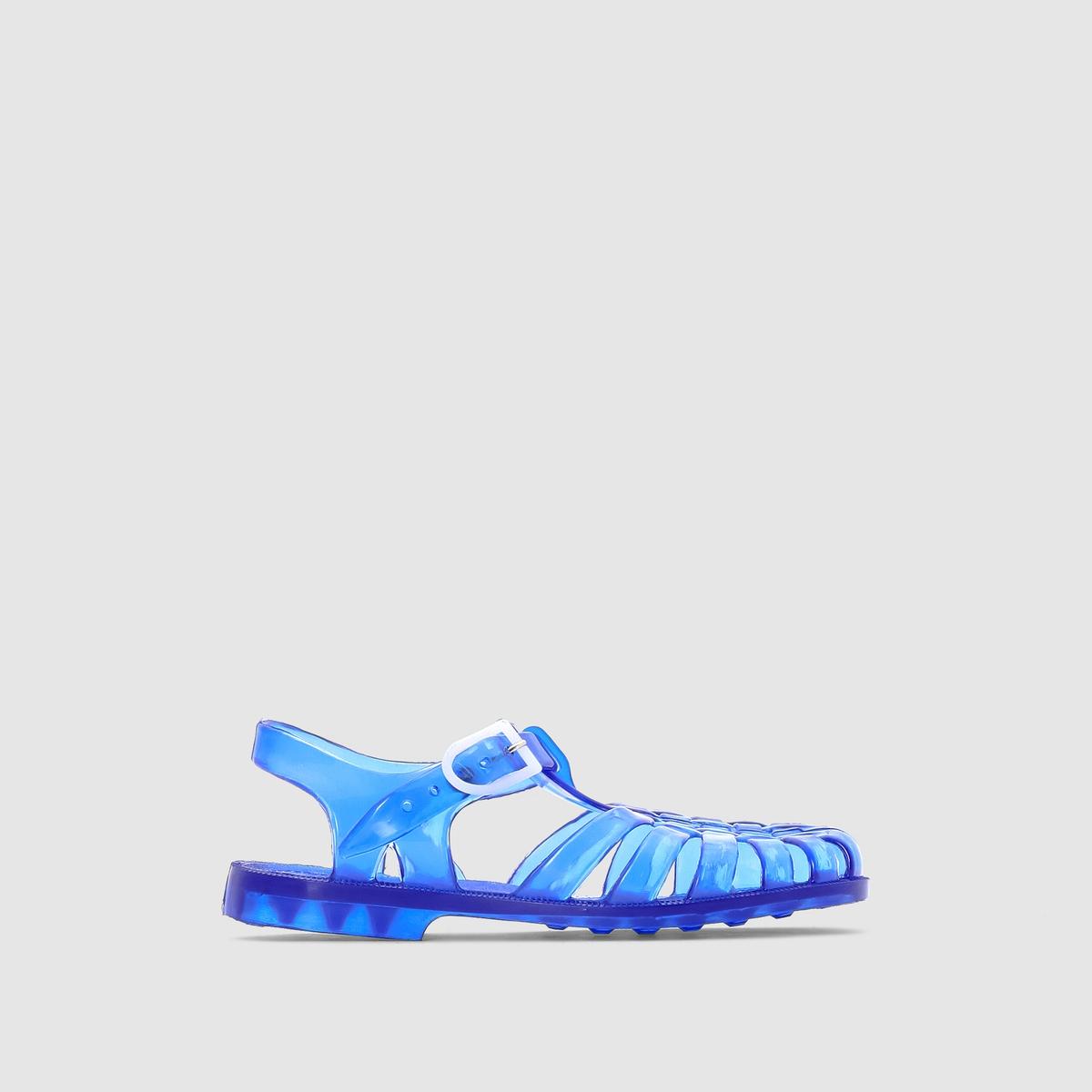Сандалии из каучука типа медузыНа протяжении уже нескольких поколений сандалии типа медузы приносят радость детям, защищая их ноги на пляже или во время занятий на воде: они незаменимы во время отпуска или времяпрепровождения на открытом воздухе!<br><br>Цвет: синий<br>Размер: 34